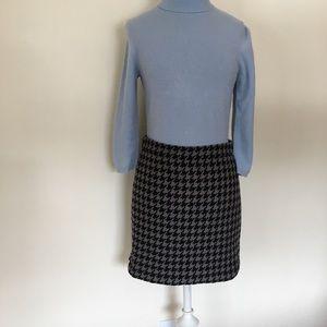 J.Crew Factory black & gray houndstooth Mini skirt